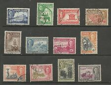 GOLD Coast SG135-46 i 1948 GVI Set di 12 BELLE USATO C. £ 45