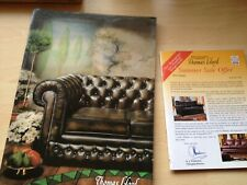 Thomas Lloyd traditional leather furniture brochure noughties 2002 advertising