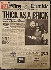 Jethro Tull - Thick as a Brick Vinyl LP Newspaper Sleeve Ex.Cond FREE POST