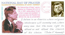 """COVERSCAPE computer generated 2017 """"National Day of Prayer"""" JFK event cover"""