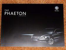 2013 VW Phaeton prestigio folleto de ventas - 3.0 V6 TDI SWB & LWB-casi Nuevo