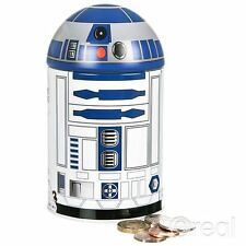 New Star Wars R2-D2 Money Tin Piggy Bank Box Droid Official