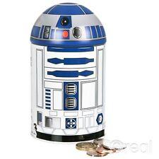 New Star Wars R2-D2 Money Tin Piggy Bank Box Droid Official