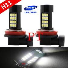 H11 Samsung LED 42 SMD Super White 6000K Headlight Xenon 2x Light Bulbs Low Beam