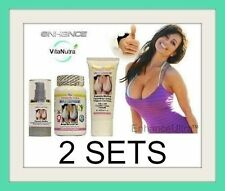2x Enhance Breast Enlargement Capsules Cream Serum Set For Cleavage Enhancement