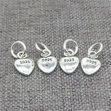 20pcs of 925 Sterling Silver Tiny Love Heart Charms for Bracelet Necklace