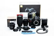 Nikon D500 20.9MP 50mm/28-80mm/70-300mm Lens Set [Exc+++] w/Box From Japan [jkh]