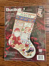 "Counted Cross Stitch kit Bucilla ""Stitcher's Stocking"" Christmas Stocking 83434"