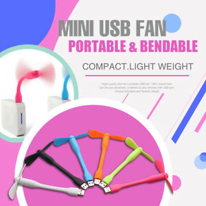 Bendable and Flexible Mini USB Fan Portable Flexible Cooling for Power Bank Comp