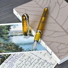 Pineider Avatar Unbreakable Demo Clear Amber Yellow Demonstrator Fountain Pen