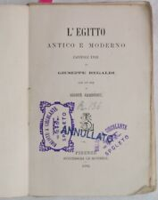 1882 REGALDI EGITTO ANTICO E MODERNO EGYPT ODE CARDUCCI