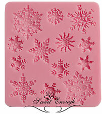 Neve invernale WINTER Lace stampo in silicone sugercraft NATALE CUP CAKE Fondant