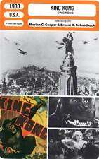 FICHE CINEMA : KING KONG - Wray,Armstrong,Cooper,Schoedsack 1933
