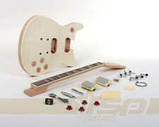 Solid Body DIY Electric Guitar Builder Kit Project Mahogany Body Set in Neck