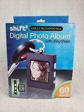 SHIFT3 Digital High Resolution LCD Photo Album W/Keychain USB Rechargeable NIB