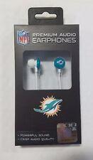 Miami Dolphins iHip Premium Audio Earphones Earbuds iPhone iPod