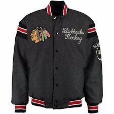 Chicago Blackhawks Mens S 4Xl 5Xl Reversible Victor Wool Blend Jacket Nhl G-Iii