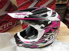"""XTR HELMET MX MOTOCROSS ATV MOTORCYCLE  - ADULT 2XL - PINK/WHITE """"MXE1"""""""