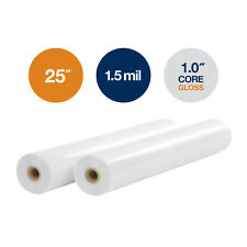 "1.5 Mil, 25""x250'x1""Core, 2 Rolls, Gloss Clear A-Lam Laminating Film"