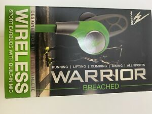 New iHIP Warrior Bluetooth Sport Earbuds with Built In Mic and Charging Cable