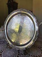 """Antique-Oneida Silversmiths 12 1/4"""" SilverPlatte Serving Tray"""