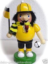 fumeur joueur de foot fan football KICKER 16 cm jaune noir