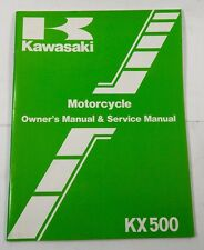 Kawasaki KX 500 1983 Motorcycle Service Manual NEW