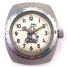 Soviet VOSTOK Diver windup watch Collectible Sailing Ship Dial *US SELLER* #1100