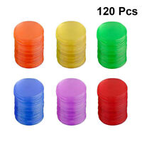 120pcs Bingo Chips Smooth Transparent Plastic Bingo Supplies Counters for Games