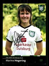 Marina Hegering Autogrammkarte FCR 2001 Duisburg 2009-10 Original Sign+A 159100