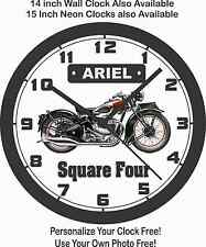 ARIEL SQUARE FOUR MOTORCYCLE WALL CLOCK-FREE US SHIP, TRIUMPH, BSA, NORTON