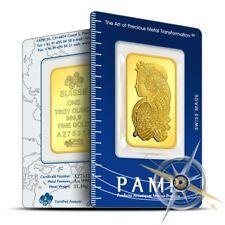PAMP Suisse 1 oz .9999 Gold Lady Fortuna Design Bar/Ingot - Sealed in Assay Card
