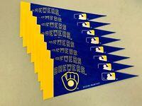 "(8x) Milwaukee Brewers MLB Classic 4""x9"" Mini Team Pennant Room Decor Flag NEW"