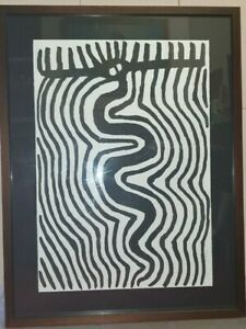 JIMMY PIKE SILK SCREEN PRINT 11/64 SIGNED & FRAMED AUTHENTICATED 70x100cm
