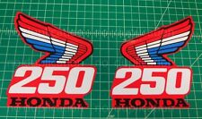 87' 1987 Honda CR250R tank 2pc radiator shroud decals stickers AHRMA FREE SHIP