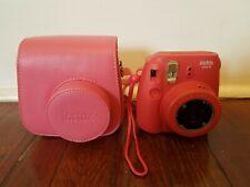 Fujifilm Instax Mini 8 Raspberry Instant Camera w/ Case, Untest, AS IS