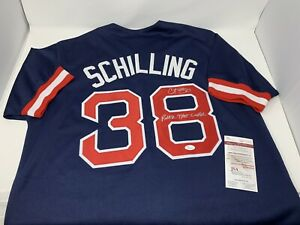 Curt Schilling Signed Jersey Inscription JSA COA! Boston Red Sox