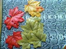 10 x fabric leaves mixed colors nwot  take a look