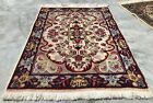 Distressed Hand Knotted Vintage Qirmoun Wool Area Rug 3 x 2 FT (1615 KBN)