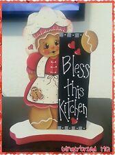 HP Hand Painted Gingerbread,  Red Dress, Girl, Shelf Sitter, Gingerbread Decor