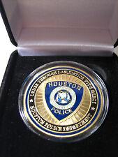CITY OF HOUSTON, Texas Police Dept GOLD Challenge Coin w/ Presentation Box