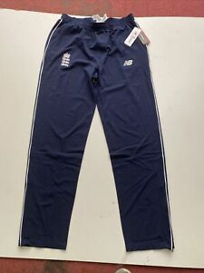 Mens New Balance Blue New Track Bottoms Size Large England Cricket Team