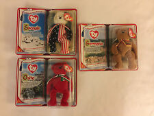 Set of 3 International Bears Ii - Ty McDonald's Teenie Beanie Babies