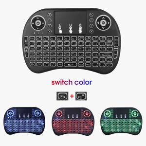 i8Mini Wireless Keyboard with Touchpad for smart TV PC three-color colorful