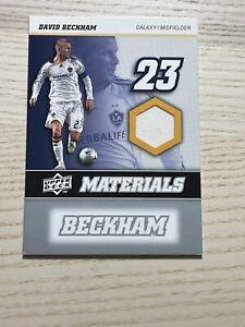 2008 Upper Deck DAVID BECKHAM Game JERSEY PATCH Relic CARD MLS LA Galaxy Mint