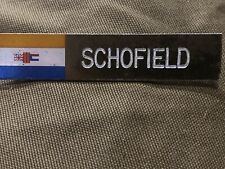 South African Army Metal Name Plate Old S.A. Flag SADF
