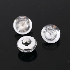 CraftbuddyUS AB2 18mm x 20pcs CLEAR Sew on Diamante BUBBLE BUTTONS Acrylic Cryst