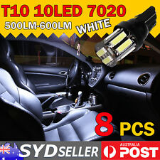 8x T10 7020 SMD 10 LED Car Tail Side Turn Parker Light Bulb W5W Ultra Bright 12V