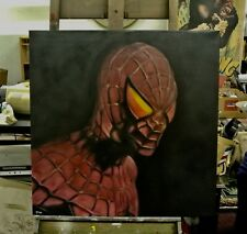"Spiderman Painting in Artists Oils on canvas by J. BLAH…36"" x 36"""