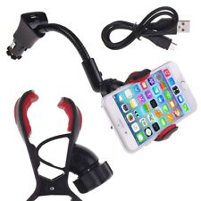2in1 Car Cigarette Lighter USB Charger Clip Mount Holder For Cell Phone GPS iPod